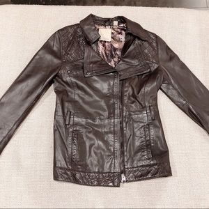 Ted Baker brown Trench leather jacket